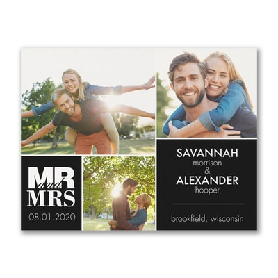 Mr. and Mrs. Square - Photo Save the Date