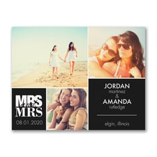 Mrs. and Mrs. Square - Photo Save the Date