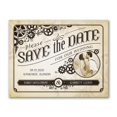 Steampunk Banner - Photo Save the Date