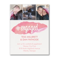 Hashtag Engaged - Photo Save the Date