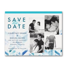 Watercolored Chevron - Save the Date