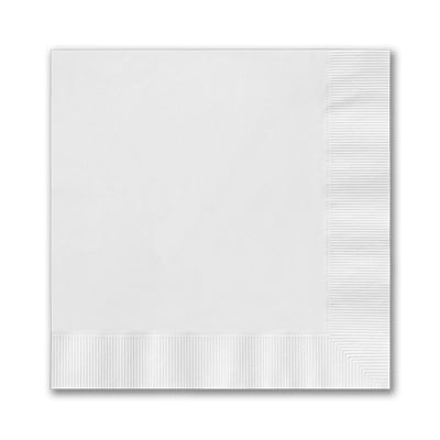 Bright White Beverage Napkin - Digital Coined