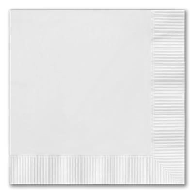 Bright White Luncheon Napkin - Digital Coined