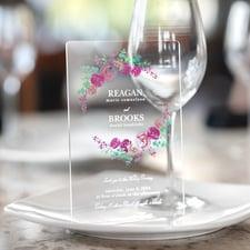 Spring Floral Invitation - Clear Acrylic