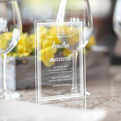 Mixed Border Invitation - Clear Acrylic