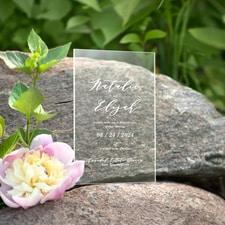 Charming Impression Invitation - Clear Acrylic