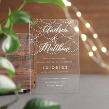Hanging Lights Invitation - Clear Acrylic