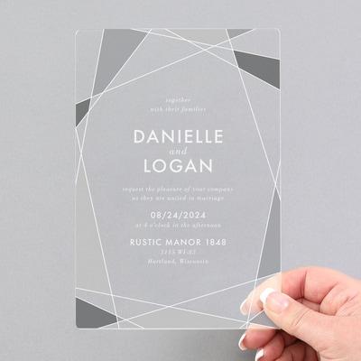 Ornate Geo Invitation - Clear Acrylic