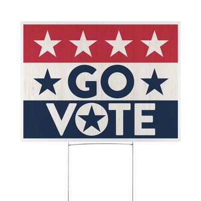 Patriotic Go Vote Yard Sign