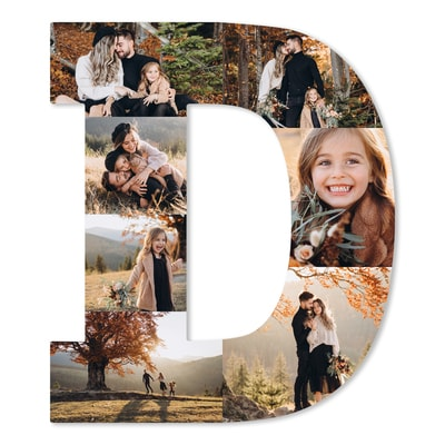 Letter Photo Collage Board - D