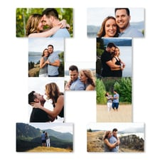 Letter Photo Collage Board - H