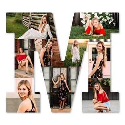 Letter Photo Collage Board - M