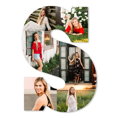 Letter Photo Collage Board - S