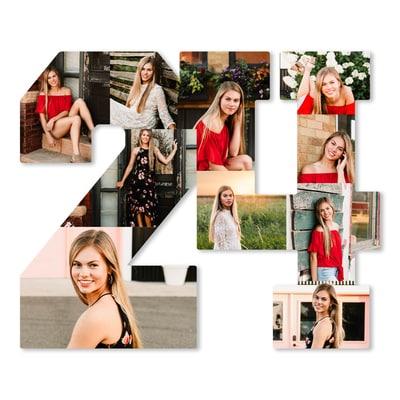 Grad Photo Collage Board - 2024