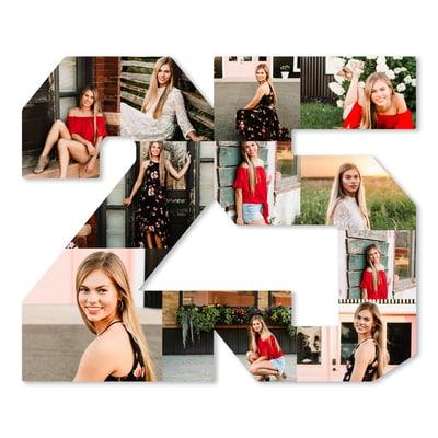 Grad Photo Collage Board - 2025
