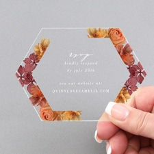 Burnt Floral Response and Envelope - Clear Acrylic