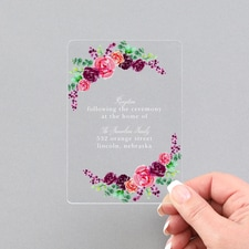 Spring Floral Reception - Clear Acrylic