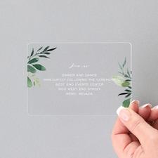 Greenery Framework Reception - Clear Acrylic
