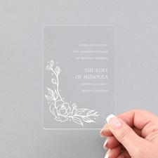 Pretty Peonies Reception - Clear Acrylic