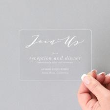 Charming Impression Reception - Clear Acrylic