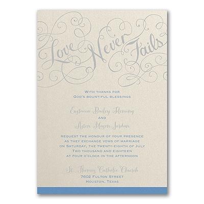 Love Rules - Invitation - Ecru