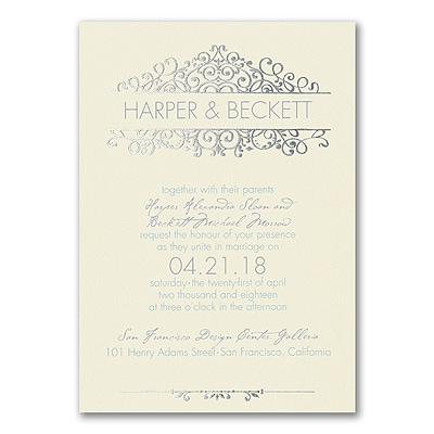Vintage Now - Invitation - Ecru