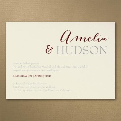 Great Couple - Invitation - Ecru