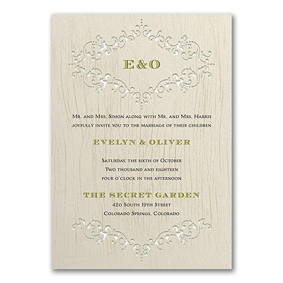 Through the Wood - Invitation - Ecru