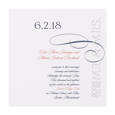 Cut Above - Invitation - White