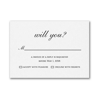 Around the Corner - Response Card and Envelope - White