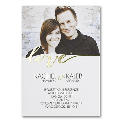 Love Light - Photo Invitation - White