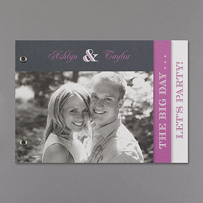 All In The Details Photo Booklet - Invitation - White