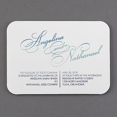 Ombré Luster - Invitation - White Shimmer
