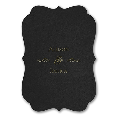 Posh Plush - Invitation - Black Velvet