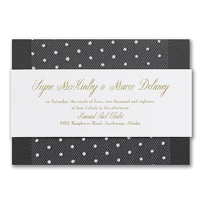 Blushing Bride - Invitation - Black Shimmer