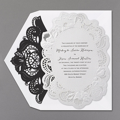 Upper Cut - Invitation with Laser Liner