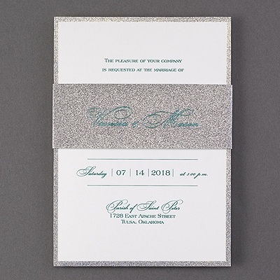 Be Dazzled - Invitation - Silver