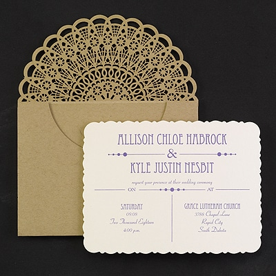 Rustic Refined - Invitation