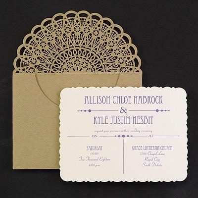 Rustic Refined - Invitation