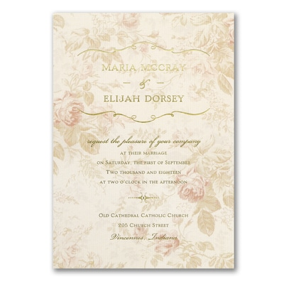 vintage wedding invitations cheap wrapped up in vintage invitation gt wedding invitations 8324