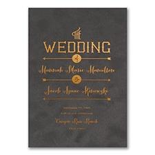 To the Wedding - Invitation - Grey Velvet