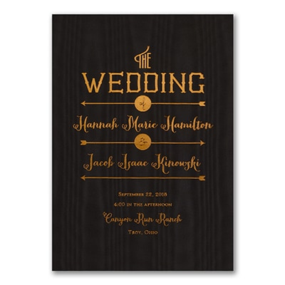 To the Wedding - Invitation - Black Moire