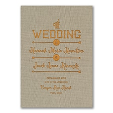 To the Wedding - Invitation - Natural Linen