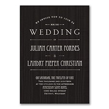 It's a Wedding - Invitation - Black Moire