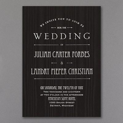 It's a Wedding - Invitation - Black Moire