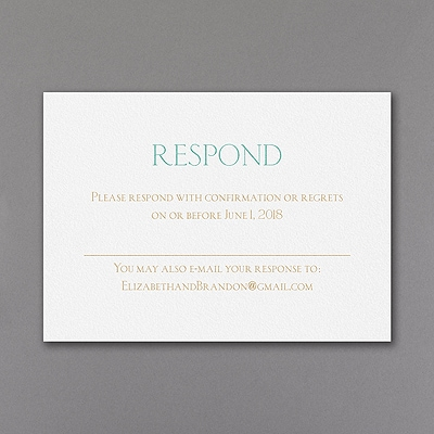 Shine Through - Response Card and Envelope