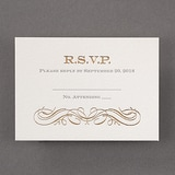 Vintage Impression - Response Card and Envelope - Pearl White