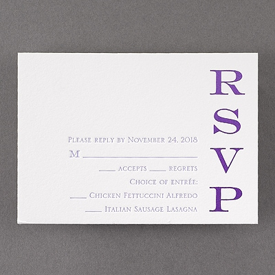 So Impressed - Response Card and Envelope - Fluorescent White