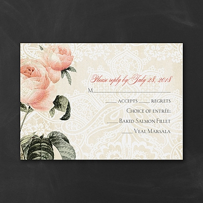 Ultra Romance - Response Card and Envelope