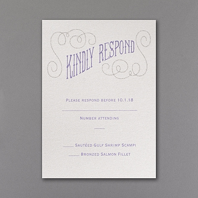 All That Glitters - Response Card and Envelope